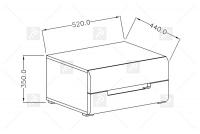 Nočný stolík Hektor 22 Biely/Biely lesk - výpredaj