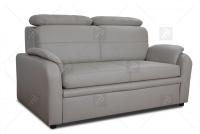 Sofa Amber - Skóra sofa z przeszyciami