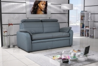 Sofa Amber - Skóra sofa grafit