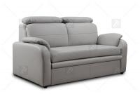 Sofa Amber - Skóra szara sofa