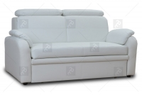 Sofa Amber - Skóra biała sofa w skórze