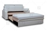 Sofa Amber - Skóra biała sofa
