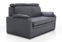 Sofa Amber - Skóra sofa z zagłówkami