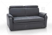 Sofa Amber - Skóra sofa z regulowanymi zagłówkami
