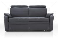 Sofa Amber - Skóra sofa ciemny szary