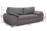 Kanapa Enzo - Wyprzedaż! kanapa z poduszkami
