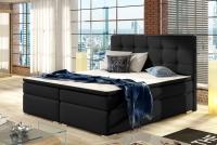 Łóżko kontynentalne Inez 160x200 ciemne łóżko