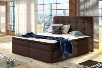 Łóżko kontynentalne Inez 160x200 brązowa sypialnia