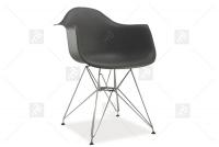 Krzesło MEGAN - Wyprzedaż ekspozycji szare krzesło