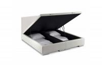 Łóżko kontynentalne z pojemnikiem Salamanca 140 x 200 łóżko kontynentalne w materiale