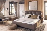 Łóżko kontynentalne z pojemnikiem Salamanca 140 x 200 łóżko tapicerowane