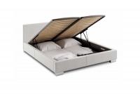 Łóżko tapicerowane z pojemnikiem Vesperum 120 x 200 łóżko ze stelażem