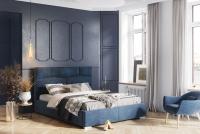 Łóżko kontynentalne z pojemnikiem bocznym Nellur 180 x 200 łóżko do sypialni
