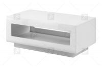 Stolik kawowy Tulsa 99 Biały/Biały połysk (MDF) 2497FJ - Wyprzedaż biały stolik