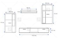 Meblościanka Kaja Biały/Beton meblościanka kaja beton bogart - schemat