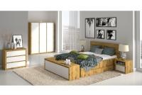 Szafka nocna z szufladą SN Malta Dąb artisan/Biały mat sypialnia malta