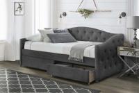 ALOHA łóżko z szufladami popielaty velvet