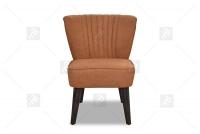 Fotel Alexander II fotel brązowy bez boków