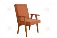 Fotel Klubowy PRL czerwony fotel PRL