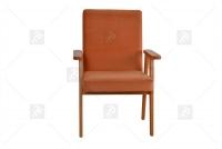 Fotel Klubowy PRL fotel jasno czerwony
