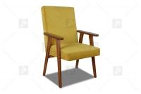 Fotel Klubowy PRL fotel PRL żółty