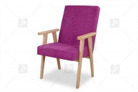 Fotel Klubowy PRL różowy fotel prl