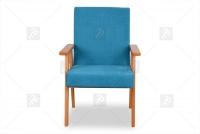 Fotel Klubowy PRL turkusowy fotel retro