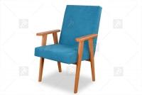 Fotel Klubowy PRL fotel turkusowy