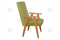 Fotel Klubowy PRL fotel zgniła zieleń