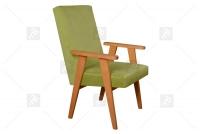 Fotel Klubowy PRL zielony fotel prl