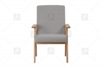 Fotel Klubowy PRL fotel retro szary