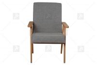 Fotel Klubowy PRL szary fotel