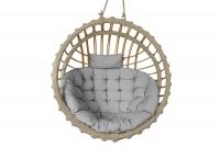 Fotel wiszący kokon - naturalny  huśtawka wiklinowa