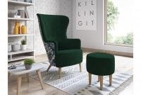 Fotel z podnóżkiem Hawk fotel z nożliwością wyboru koloru