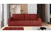 Kanapa z funkcją spania Lazaro czerwona kanapa