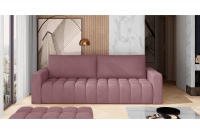 Kanapa z funkcją spania Lazaro różowa kanapa