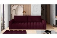 Kanapa z funkcją spania Lazaro fioletowa kanapa z pikowanym siedziskiem