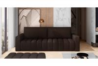 Kanapa z funkcją spania Lazaro brązowa kanapa do salonu