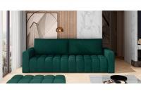 Kanapa z funkcją spania Lazaro kanapa w butelkowej zieleni do salonu