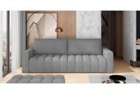 Kanapa z funkcją spania Lazaro szara kanapa z poduszkami