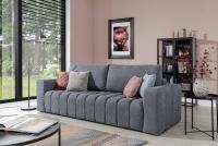 Kanapa z funkcją spania Lazaro szara sofa