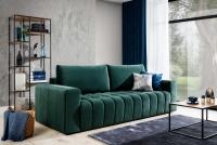 Kanapa z funkcją spania Lazaro zielona sofa