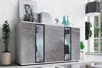 Komoda Kaja - Biały/Beton komoda beton