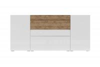 Komoda Power I Biały - sandal oak/Biały połysk - sandal oak 24BSJE26 szeroka komoda