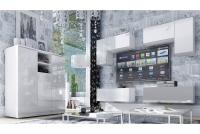Komoda trzydrzwiowa Combo 6 - biały/MDF biały połysk  meble do salonu