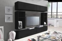 Komoda trzydrzwiowa Combo 6 - grafit/MDF czarny połysk nowoczesne meble do salonu