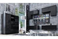 Komoda trzydrzwiowa Combo 6 - grafit/MDF czarny połysk meble do salonu
