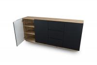 Komoda trzydrzwiowa z 3 szufladami Doze  komoda do pokoju dziennego