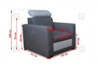 Komplet Dorian wymiary fotel dorian
