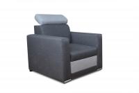 Komplet Dorian szary fotel